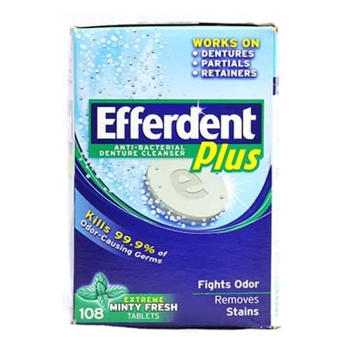 Thuốc ngâm răng giả Efferdent plus 120 viên