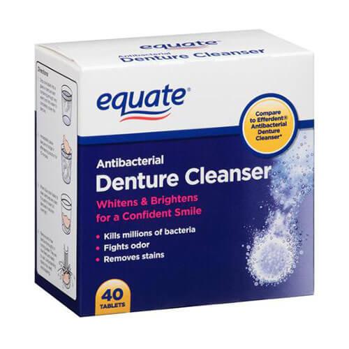 Thuốc ngâm răng Equate Antibacterial Denture Cleanser 40 viên