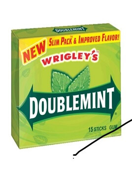 Kẹo gum Wrigley's Doublemint Slim Pack Chewing Gum