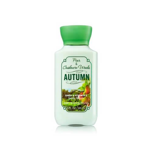 Body lotion Pear Cashmere & Woods Autumn BBW 88 ml 3fl oz