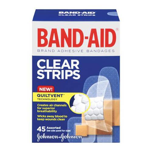 Băng keo cá nhân Johnson Clear Strips 45