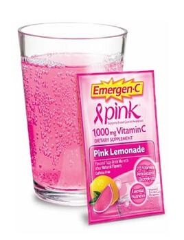 Vitamin C 1000mg vị chanh đào Emergen-C pink Lemonade 10 gói