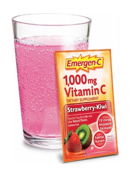 Vitamin C 1000mg vị dâu kiwi Emergen-C strawberry-kiwi 10 gói