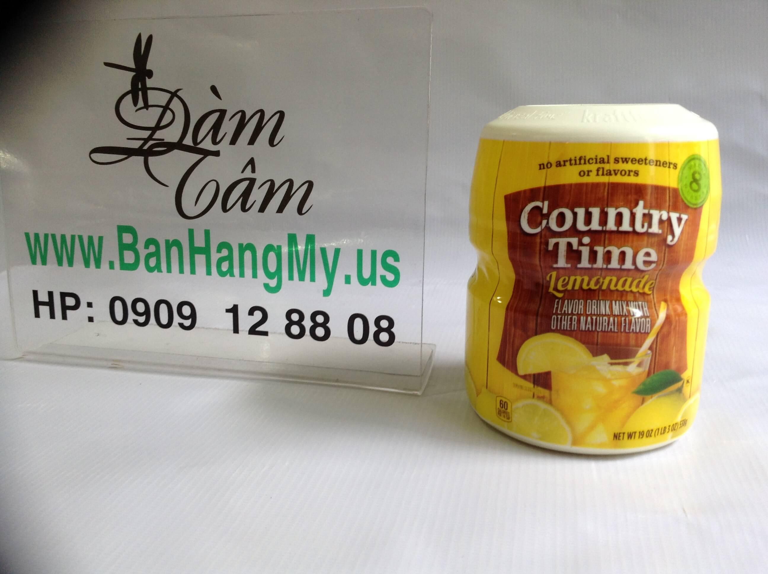 Bột pha nước trái cây hương chanh Country Timev