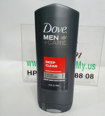SỮA TẮM VÀ RỬA MẶT DOVE MEN + CARE DEEP CLEAN  BODY AND FACE WASH 400ML