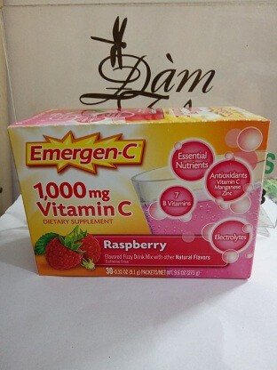 Vitamin C 1000mg vị dâu Emergen-C DIETARY SUPPLEMENT  RASPBERRY