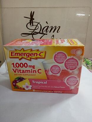 Vitamin C 1000mg vị Thơm  Emergen-C