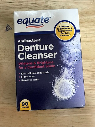 Thuốc Ngâm Răng EQUATE ANTIBACTERIAL DENTURE CLEANSER 90 TABLETS
