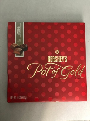 CHOCOLATE HERSHEYS POTOFGOLD BRAND  28 PIECES 283G